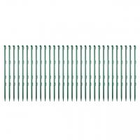 Gartenpfahl, grün, 75 cm, 30 Stk.